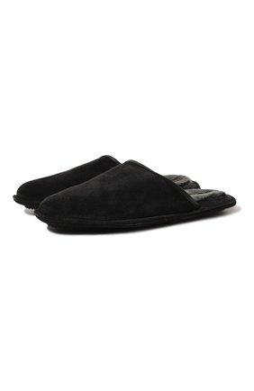 Мужского домашние замшевые туфли HOMERS AT HOME темно-серого цвета, арт. 13567/CR0STA | Фото 1