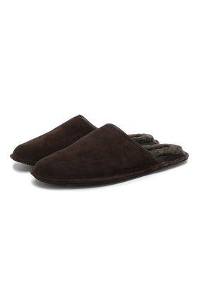 Мужского домашние замшевые туфли HOMERS AT HOME коричневого цвета, арт. 13567/CR0STA | Фото 1
