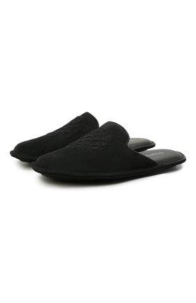 Мужского домашние замшевые туфли HOMERS AT HOME темно-серого цвета, арт. 17328/CR0STA | Фото 1