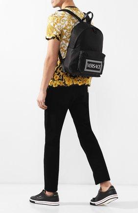 Мужской текстильный рюкзак VERSACE черного цвета, арт. DFZ5350/DNYVER   Фото 2