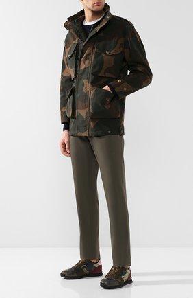 Мужские комбинированные кроссовки valentino garavani rockrunner camouflage VALENTINO хаки цвета, арт. RY2S0723/TCC   Фото 2