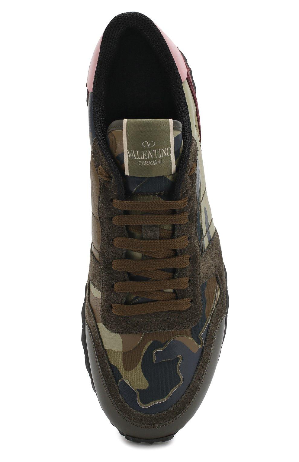 Комбинированные кроссовки Valentino Garavani Rockrunner Camouflage   Фото №5 e687d31b7c7