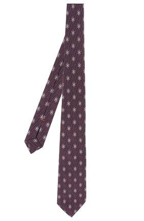 Мужской шелковый галстук ZEGNA COUTURE фиолетового цвета, арт. Z5B01/15C | Фото 2