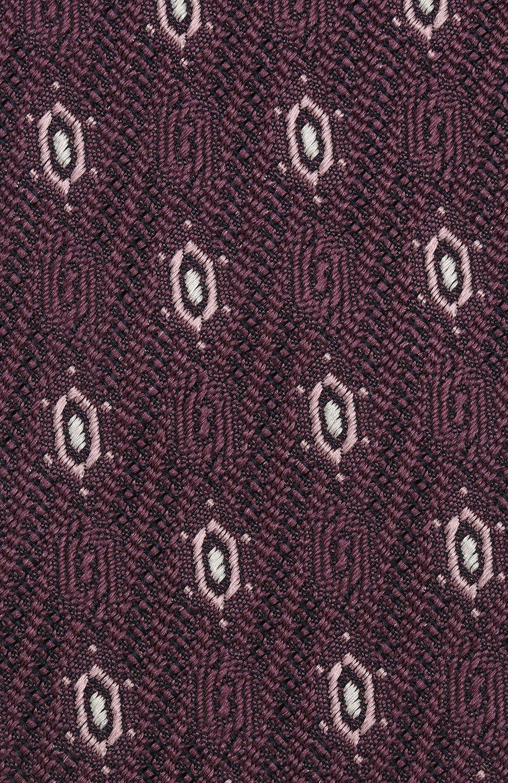 Мужской шелковый галстук ZEGNA COUTURE фиолетового цвета, арт. Z5B01/15C | Фото 3 (Принт: С принтом; Материал: Текстиль; Статус проверки: Проверено)