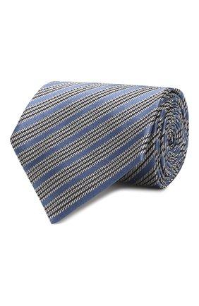Мужской шелковый галстук ERMENEGILDO ZEGNA синего цвета, арт. Z5E19/1XW | Фото 1