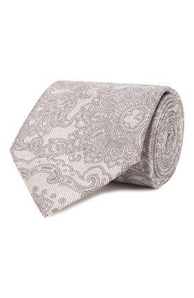 Мужской комплект из галстука и платка BRIONI бежевого цвета, арт. 08A900/P841N | Фото 1