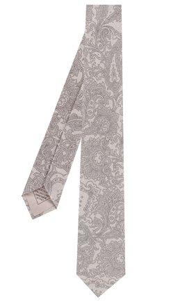 Мужской комплект из галстука и платка BRIONI бежевого цвета, арт. 08A900/P841N | Фото 2