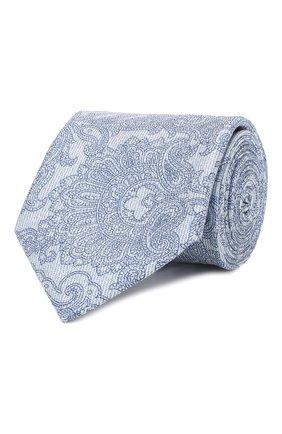 Мужской комплект из галстука и платка BRIONI голубого цвета, арт. 08A900/P841N   Фото 1