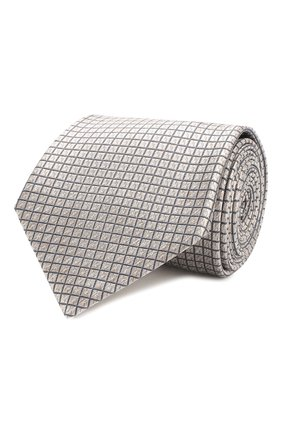 Мужской шелковый галстук BRIONI бежевого цвета, арт. 062I00/P8439 | Фото 1