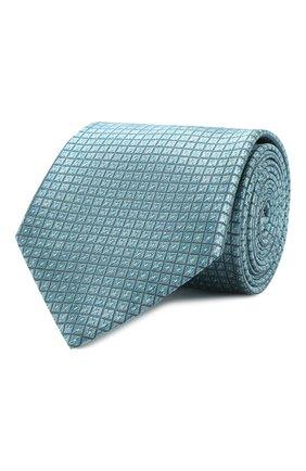 Мужской шелковый галстук BRIONI бирюзового цвета, арт. 062I00/P8439 | Фото 1