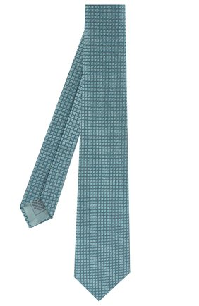 Мужской шелковый галстук BRIONI бирюзового цвета, арт. 062I00/P8439 | Фото 2