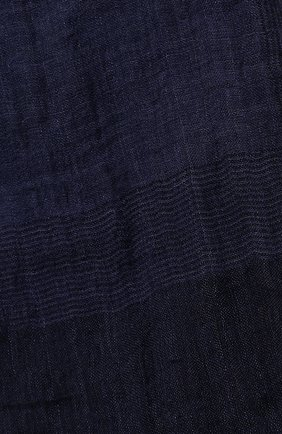 Мужской шарф из смеси льна и шелка BRUNELLO CUCINELLI синего цвета, арт. MSC624AG | Фото 2