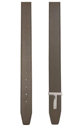 Мужской кожаный ремень  TOM FORD хаки цвета, арт. TB178P-CL8 | Фото 2