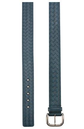 Мужской кожаный ремень  BOTTEGA VENETA синего цвета, арт. 173784/V465V | Фото 2