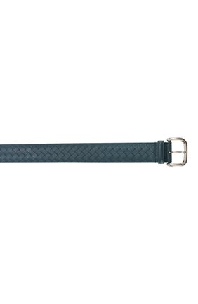 Мужской кожаный ремень  BOTTEGA VENETA синего цвета, арт. 173784/V465V | Фото 3