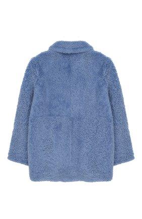 Детская шуба из овчины YVES SALOMON ENFANT голубого цвета, арт. 9WEM903XXMRMX/8-12 | Фото 2