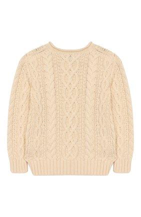 Детский хлопковый пуловер POLO RALPH LAUREN бежевого цвета, арт. 321712073 | Фото 2