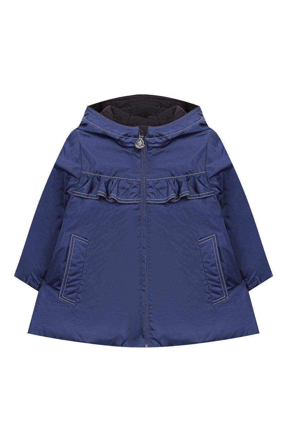 Детского пальто с капюшоном MONCLER ENFANT синего цвета, арт. E1-951-49942-05-54155 | Фото 1