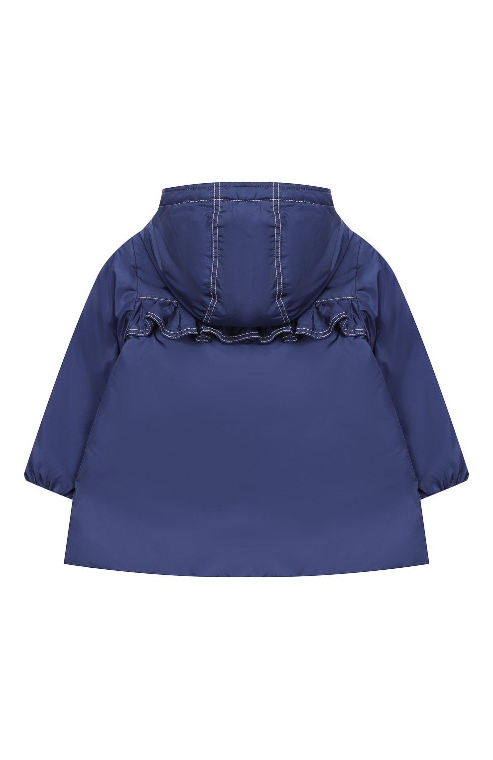 Детского пальто с капюшоном MONCLER ENFANT синего цвета, арт. E1-951-49942-05-54155 | Фото 2