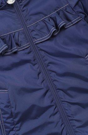 Детского пальто с капюшоном MONCLER ENFANT синего цвета, арт. E1-951-49942-05-54155 | Фото 3