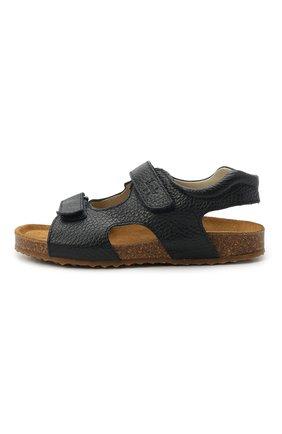 Детские кожаные сандалии IL GUFO синего цвета, арт. G550/VITELL0 CERV0/31-34   Фото 2