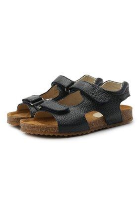 Детские кожаные сандалии IL GUFO синего цвета, арт. G550/VITELL0 CERV0/27-30   Фото 1