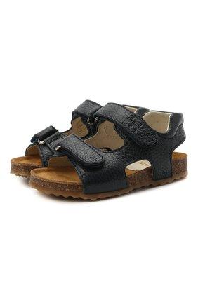 Детские кожаные сандалии IL GUFO синего цвета, арт. G550/VITELL0 CERV0/23-26   Фото 1