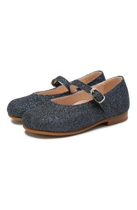Туфли с текстильной отделкой | Фото №1
