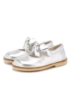 Кожаные туфли с застежкой велькро | Фото №1