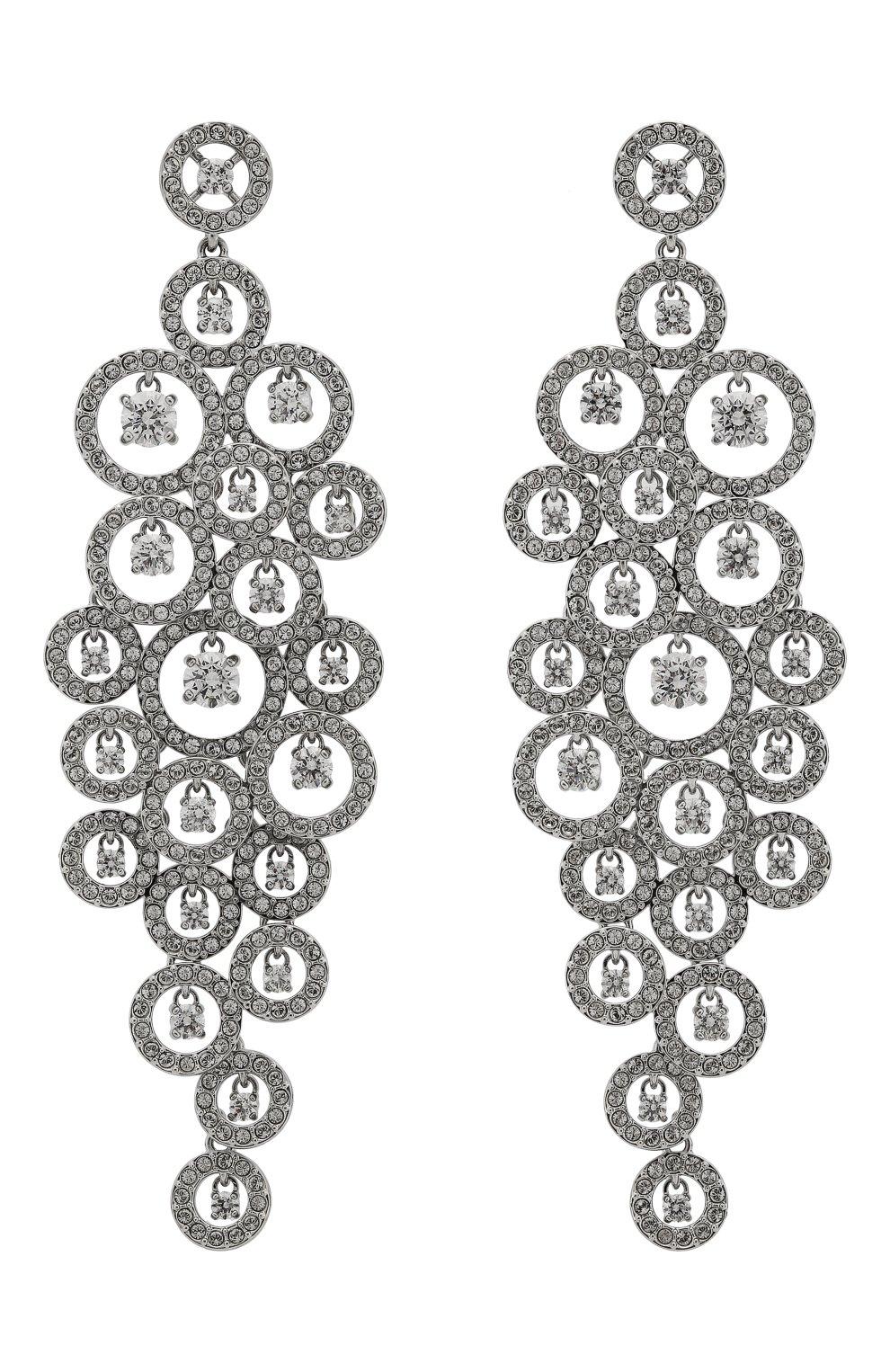 Женские серьги creativity SWAROVSKI серебряного цвета, арт. 5408280 | Фото 1