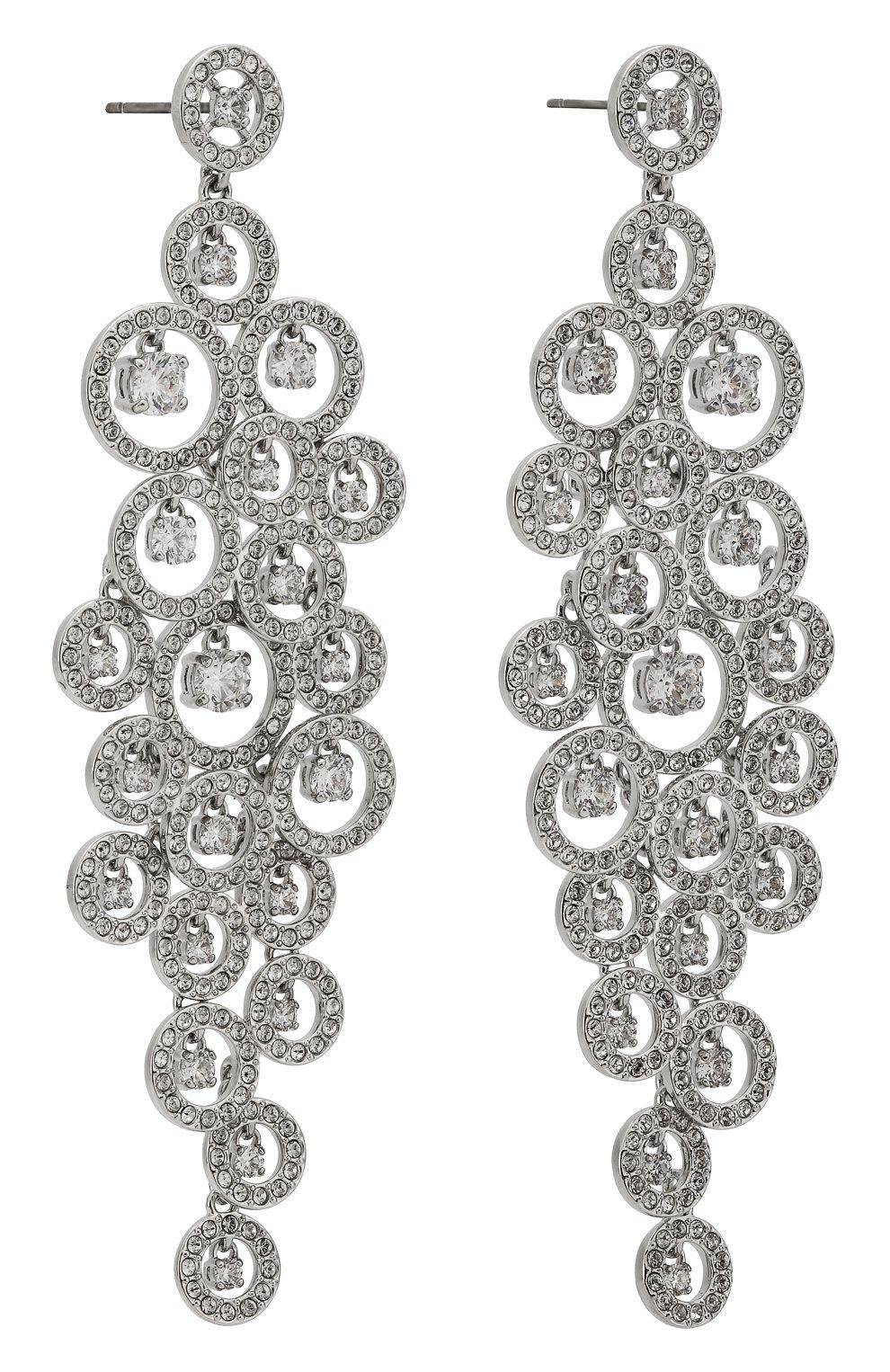 Женские серьги creativity SWAROVSKI серебряного цвета, арт. 5408280 | Фото 3
