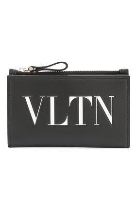 Футляр для кредитных карт Valentino Garavani VLTN Valentino черного цвета | Фото №1