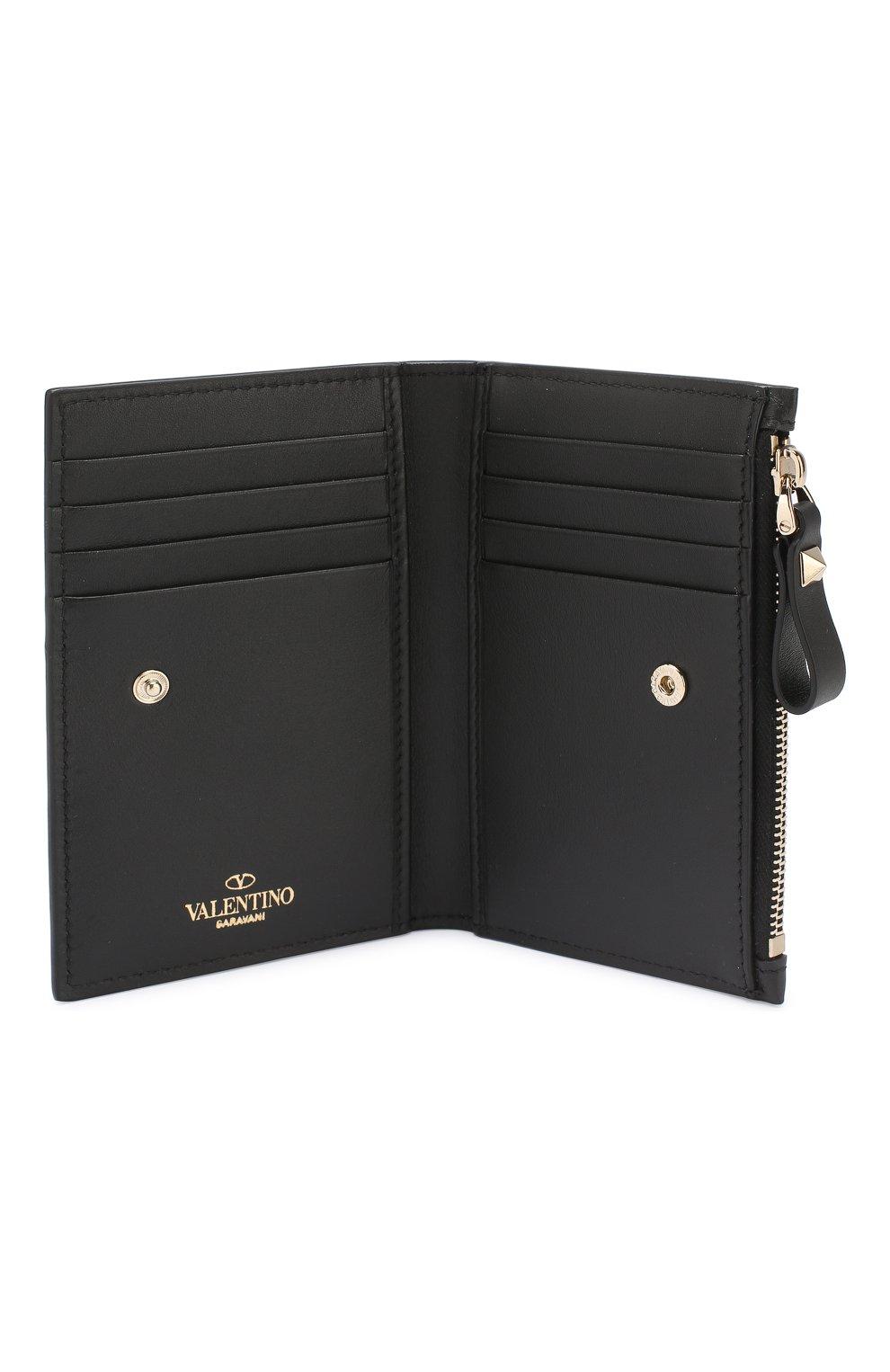 Футляр для кредитных карт Valentino Garavani VLTN Valentino черного цвета | Фото №3