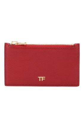 Женский кожаный футляр для кредитных карт TOM FORD красного цвета, арт. S0271T-G05 | Фото 1
