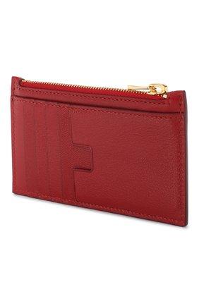 Женский кожаный футляр для кредитных карт TOM FORD красного цвета, арт. S0271T-G05 | Фото 2
