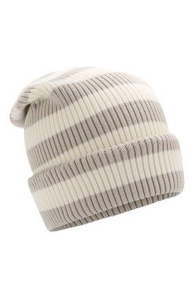 Хлопковая шапка Marc Jacobs белого цвета | Фото №1