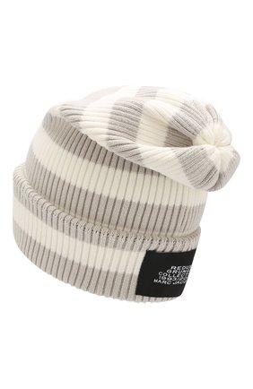 Хлопковая шапка Marc Jacobs белого цвета | Фото №2