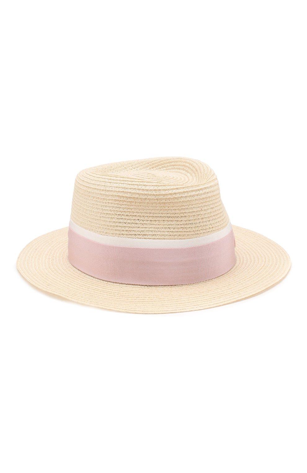 Женская шляпа andre с лентой MAISON MICHEL бежевого цвета, арт. 1003038003/ANDRE | Фото 1