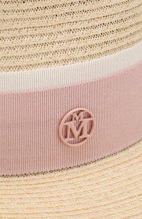 Женская шляпа andre с лентой MAISON MICHEL бежевого цвета, арт. 1003038003/ANDRE | Фото 3