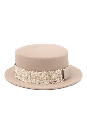 Фетровая шляпа Auguste с лентой Maison Michel бежевого цвета | Фото №2