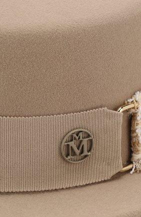 Фетровая шляпа Auguste с лентой Maison Michel бежевого цвета | Фото №3