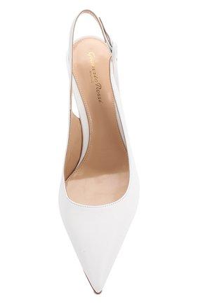 Кожаные туфли Anna  Gianvito Rossi белые | Фото №5