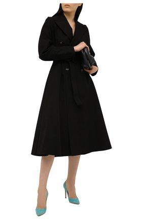 Женские замшевые туфли gianvito 105 GIANVITO ROSSI бирюзового цвета, арт. G28470.15RIC.CAMMALE | Фото 2