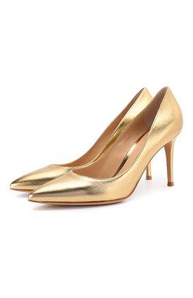 Женская кожаные туфли gianvito 85 GIANVITO ROSSI золотого цвета, арт. G24580.85RIC.NPSMEK0 | Фото 1