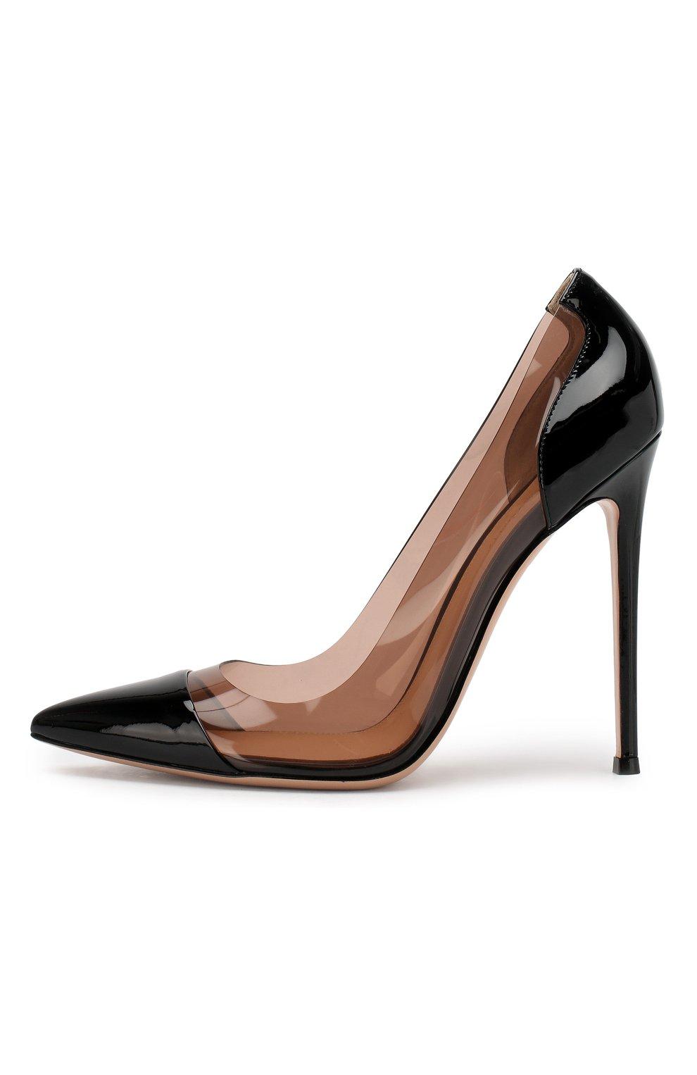 Лаковые туфли Plexi  Gianvito Rossi черные | Фото №3