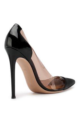 Лаковые туфли Plexi  Gianvito Rossi черные | Фото №4