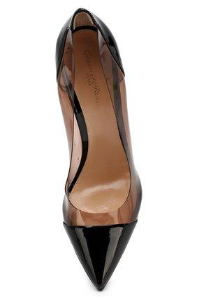 Лаковые туфли Plexi  Gianvito Rossi черные | Фото №5