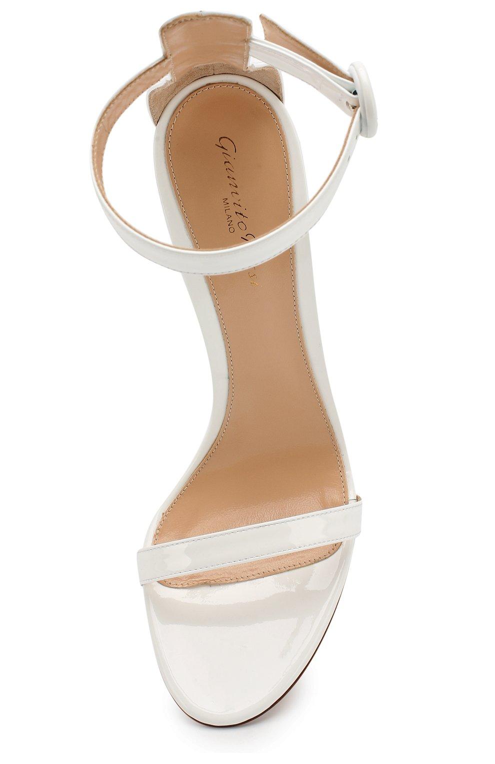 Женские лаковые босоножки portofino 115 GIANVITO ROSSI белого цвета, арт. G60266.11RIC.VERBIAN | Фото 5