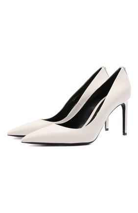 Женские кожаные туфли TOM FORD белого цвета, арт. W2326T-SS0 | Фото 1 (Материал внутренний: Натуральная кожа; Подошва: Плоская; Статус проверки: Проверено, Проверена категория; Каблук тип: Шпилька; Каблук высота: Высокий)