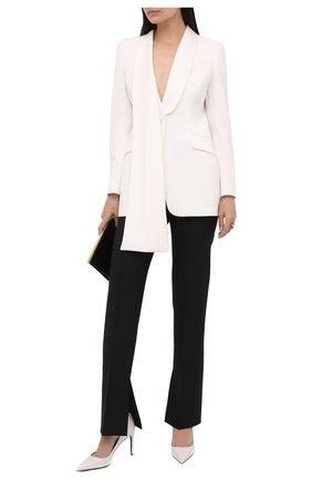Женские кожаные туфли TOM FORD белого цвета, арт. W2326T-SS0 | Фото 2 (Материал внутренний: Натуральная кожа; Подошва: Плоская; Статус проверки: Проверено, Проверена категория; Каблук тип: Шпилька; Каблук высота: Высокий)